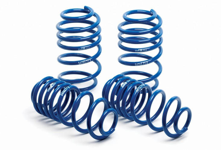H/&R 50377 Sport Front /& Rear Lowering Coil Spring for 2000-2003 Audi S4